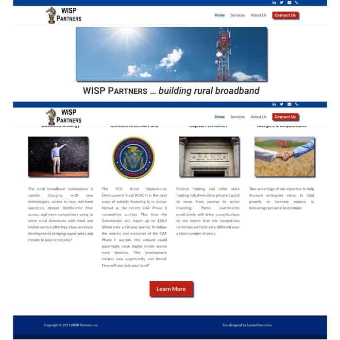 Example of a brochure website